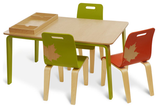 Craft work table and chairs modern kids chairs by design public