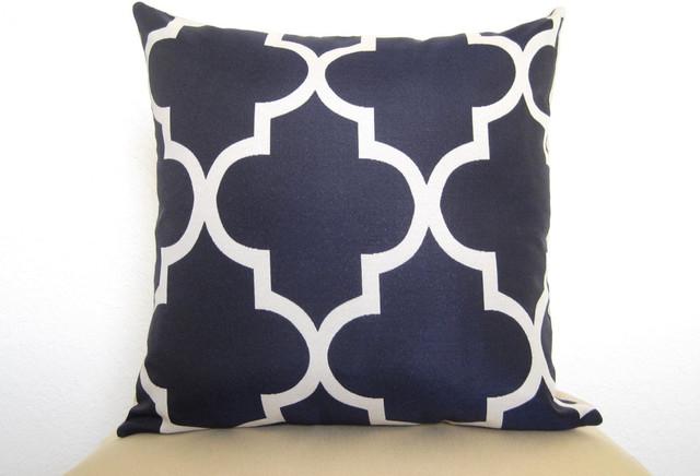 Moroccan Quatrefoil Lattice Designer Pillow by Willa Skye mediterranean-decorative-pillows