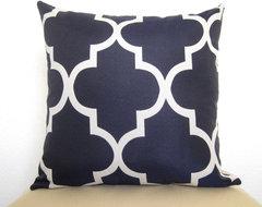 Moroccan Quatrefoil Lattice Designer Pillow by Willa Skye mediterranean-pillows
