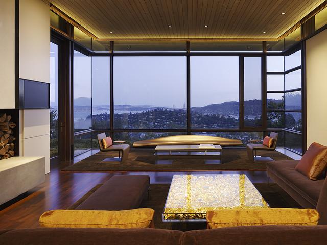 Courtyard Residence modern-living-room