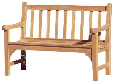 Oxford Garden Essex 4' Shorea Bench traditional-outdoor-stools-and-benches