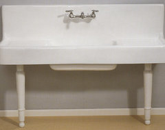 Farmhouse Drainboard Sink With Legs traditional-kitchen-sinks