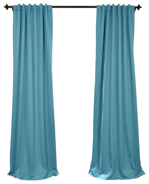Turquoise Blue Blackout Curtain - Traditional - Curtains - by Half Price Drapes