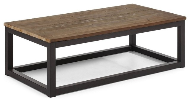 Civic wood and metal coffee table modern coffee tables for Modern wooden coffee tables