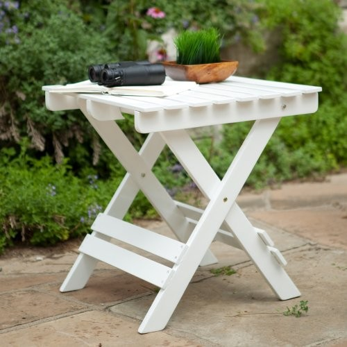 Other Brands Coral Coast Adirondack Side Table - White contemporary outdoor tables
