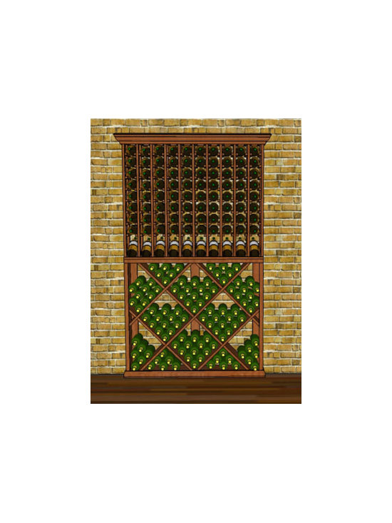 "WineRacks.com Premium Series Wine Racks. 4 Foot Width Combo 1 - Dimensions: 3' 9 3/4"" wide x 78"" high x 12 3/8"""
