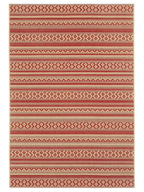 """Finesse Afghan rug in Cayenne - An esteemed """"Capel Anywhere"""" rug collection woven on precision machine looms in Europe. These versatile rugs can be used in high traffic areas indoors - like kitchens and sunrooms - or to dress up covered porches and decks outside."""