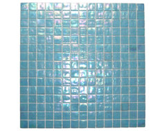 Pacific Blue Glimmer Glass Tile modern-tile