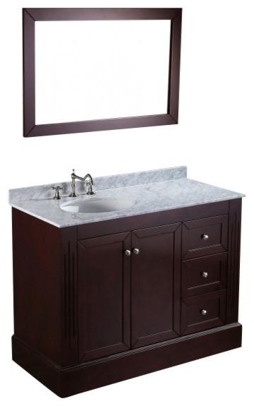 Bosconi Sb 255 45 Contemporary Single Vanity Traditional Bathroom Vanities And Sink