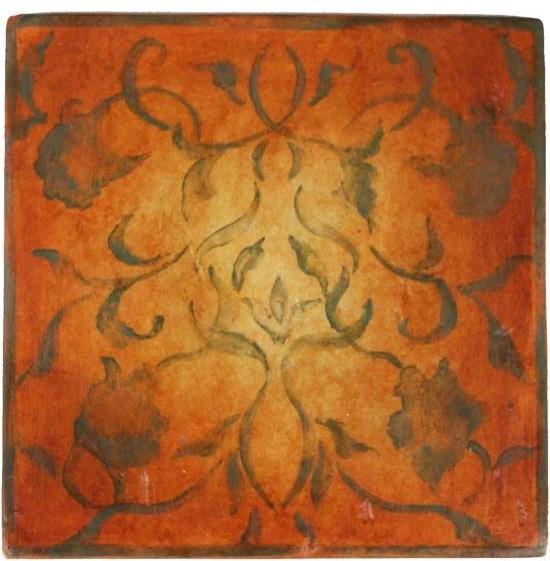 JMD Collection ~ Art Nouveau orange traditional-tile