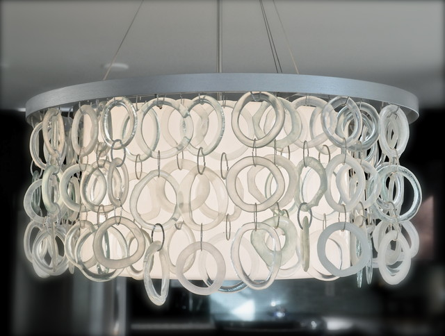 The Oze recycled glass chandelier contemporary-chandeliers