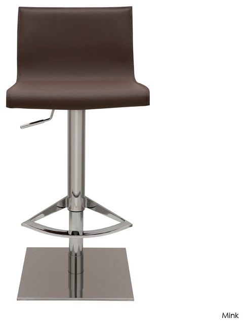 Colter Adjustable Stool, Mink modern-bar-stools-and-counter-stools