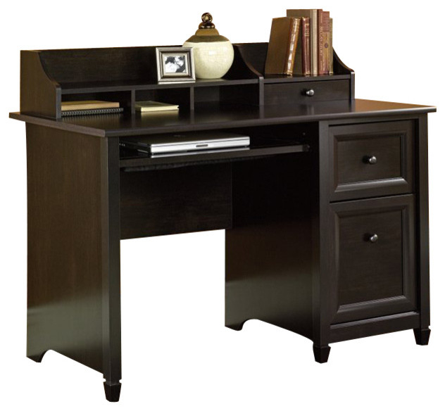 Sauder Edge Water puter Desk in Estate Black
