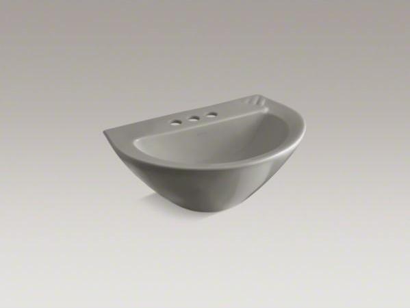 "KOHLER Parigi(R) pedestal bathroom sink basin with 4"" centerset faucet holes contemporary-bathroom-sinks"