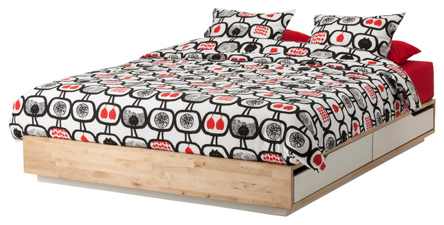 Ikea Schrank In Dachschräge ~ IKEA MANDAL Bed frame with storage  Contemporary  Beds  by Ikea UK