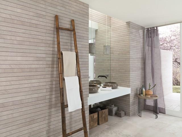 Timber Look Tiles Liston Oxford Acero Contemporary Bathroom