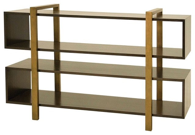Metropolitan Low Bookcase Contemporary Bookcases New