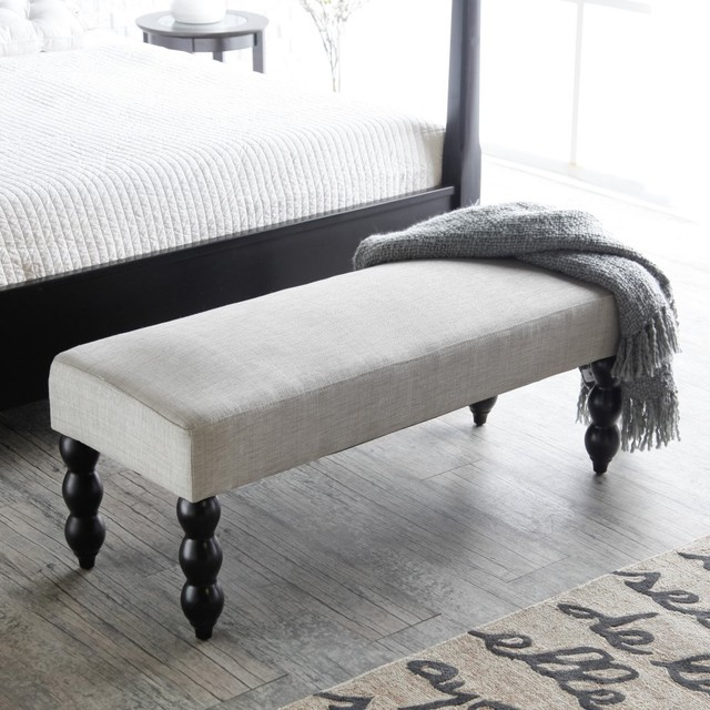 Altea Upholstered Bedroom Bench - Linen Sand modern-bedroom-benches