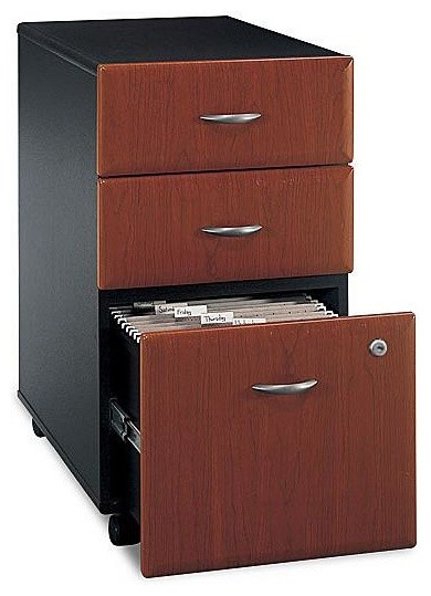 3 Drawer Filing Cabinet in Cherry Colored - S contemporary-filing-cabinets