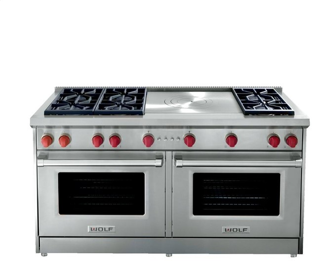 """Wolf 60"""" Pro-style Gas Range, Stainless Steel"""