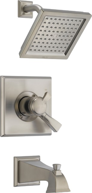 Delta T17451-SS Dryden Monitor 17 Series Pressure Balance Tub and Shower Trim wi contemporary-tub-and-shower-faucet-sets