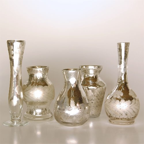 Antiqued Bud Vases eclectic vases