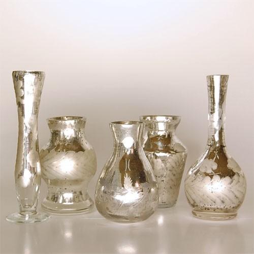 Antiqued Bud Vases eclectic-vases