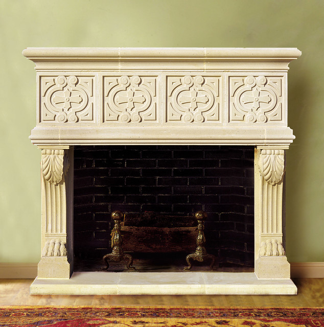 stoneleigh cast stone fireplace mantel traditional