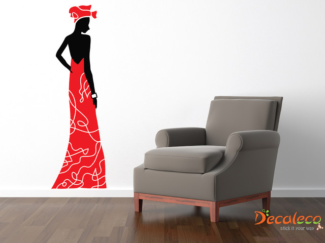 African Lady Large Wall Decal (SKU 010) contemporary-wall-decals