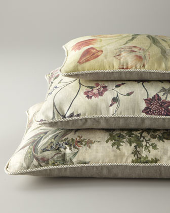 """Randi Pulvermacher """"Floral & Leaves"""" Pillow traditional-decorative-pillows"""
