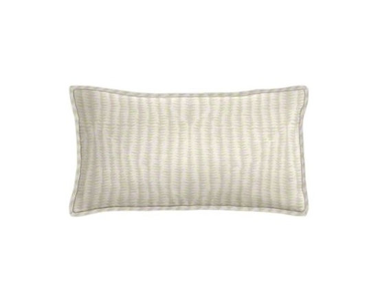 "Cushion Source - Cream Triangle Chevron Lumbar Pillow - The 20"" x 12"" Cream Triangle Chevron Lumbar Pillow features a cream chevron print comprised of small triangles in a darker shade."