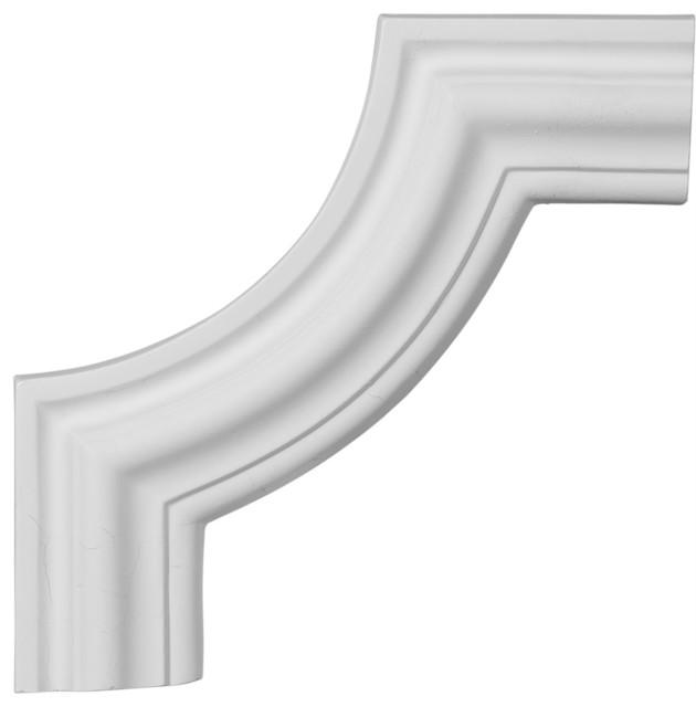 """10 1/2""""W x 10 1/2""""H Pompeii Panel Moulding Corner modern-moulding"""