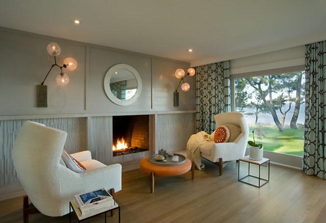 David Howell Design contemporary-living-room