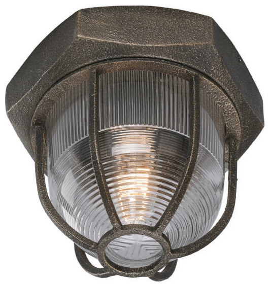 troy lighting c3890 acme bronze flush mount industrial flush mount
