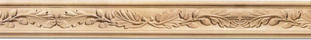 Vermont Crown Molding (large) - white oak wood (C5OK/fq5c) traditional-moulding