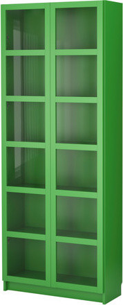 BILLY Bookcase With Glass Doors - Scandinavian - Bookcases - by IKEA