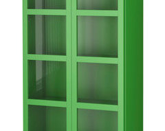 BILLY Bookcase With Glass Doors contemporary bookcases cabinets and computer armoires