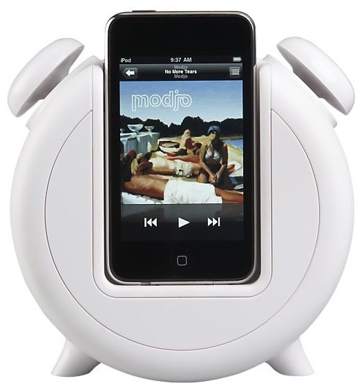 MP3 Alarm Clock Docking Station and Speakers contemporary home electronics
