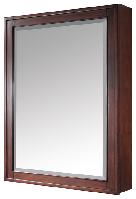 """Madison 28"""" x 36"""" Mirror Cabinet in Tobacco Finish - Contemporary - Bathroom Mirrors - by Modern ..."""