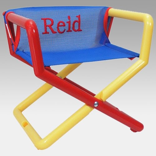 Custom embroidered lawn chairs hoohobbers personalized for Personalized kids soft chairs