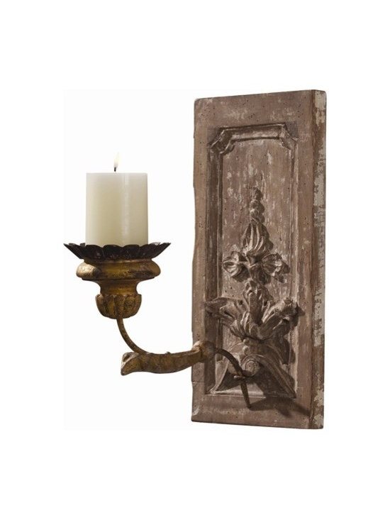 Arteriors Orleans Hand Carved Solid Wood/Iron Sconce - Orleans Hand Carved Solid Wood/Iron Sconce