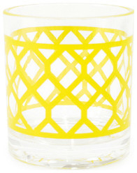 Jonathan Adler Chartreuse Positano Rocks Glass modern barware