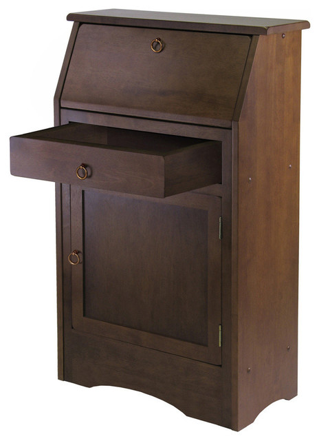 Winsome wood regalia secretary desk contemporary desks and hutches by beyond stores - Modern secretary desk with hutch ...