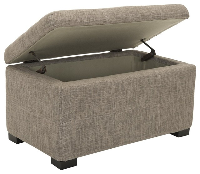 Safavieh Maiden Tufted Storage Bench Small X C0328duh Contemporary Upholstered Benches By