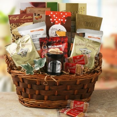 A gift basket filled with personal favorites