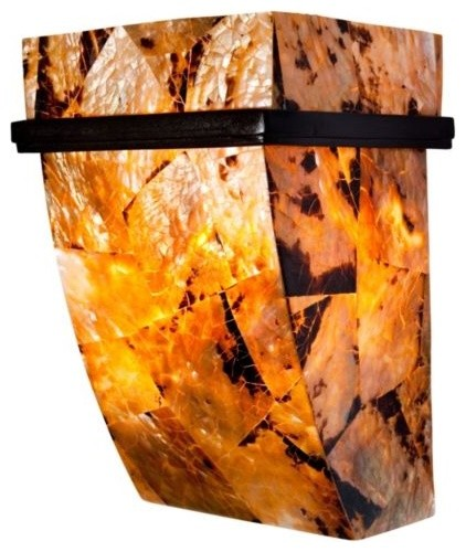 Sustainable Shell Big Wall Sconce contemporary-wall-lighting