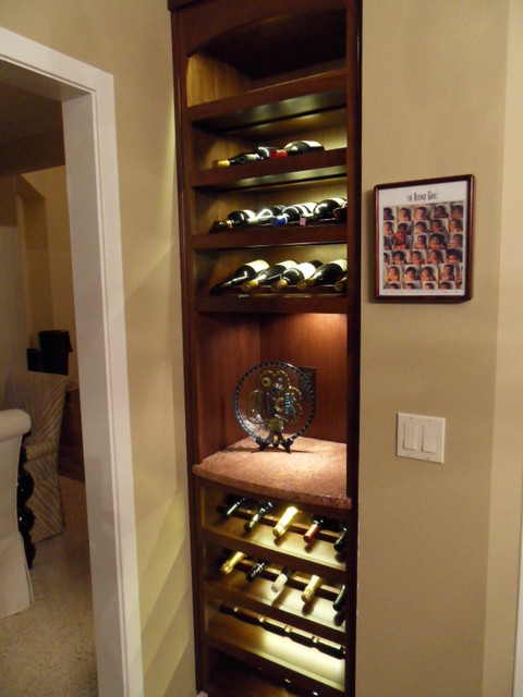 Radigan wine cabinet - Contemporary - Wine Cellar - seattle - by Keystone Kitchens