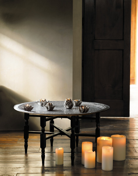Moroccan Tea Tray Table mediterranean-side-tables-and-end-tables