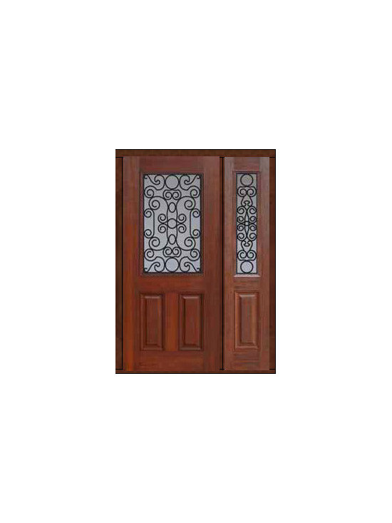 "Prehung Sidelite Door 80 Fiberglass Genoa 2 Panel 1/2 Lite GBG Glass - SKU#    MCT012WG_DFHGG1-1Brand    GlassCraftDoor Type    ExteriorManufacturer Collection    1/2 Lite Entry DoorsDoor Model    GenoaDoor Material    FiberglassWoodgrain    Veneer    Price    3130Door Size Options    32"" + 14""[3'-10""]  $032"" + 12""[3'-8""]  $036"" + 14""[4'-2""]  $036"" + 12""[4'-0""]  $0Core Type    Door Style    Door Lite Style    1/2 LiteDoor Panel Style    2 PanelHome Style Matching    Door Construction    Prehanging Options    PrehungPrehung Configuration    Door with One SideliteDoor Thickness (Inches)    1.75Glass Thickness (Inches)    Glass Type    Double GlazedGlass Caming    Glass Features    Tempered glassGlass Style    Glass Texture    Glass Obscurity    Door Features    Door Approvals    Energy Star , TCEQ , Wind-load Rated , AMD , NFRC-IG , IRC , NFRC-Safety GlassDoor Finishes    Door Accessories    Weight (lbs)    418Crating Size    25"" (w)x 108"" (l)x 52"" (h)Lead Time    Slab Doors: 7 Business DaysPrehung:14 Business DaysPrefinished, PreHung:21 Business DaysWarranty    Five (5) years limited warranty for the Fiberglass FinishThree (3) years limited warranty for MasterGrain Door Panel"