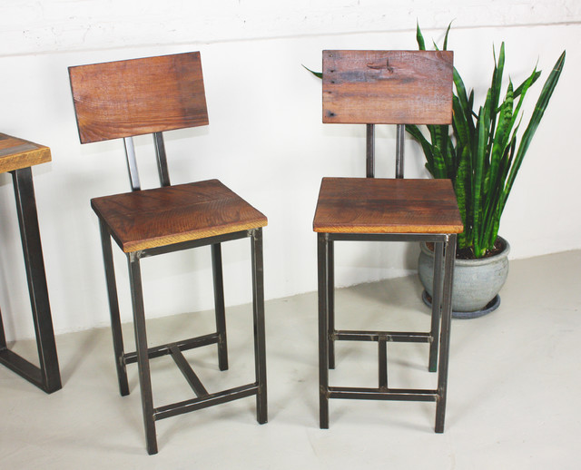 Reclaimed Wood Bar Stools Rustic Bar Stools And